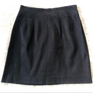 Gap Tailored Black Cotton Blend Pencil Mini Skirt.